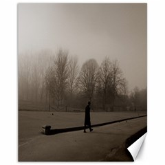 Foggy morning, Oxford 11  x 14  Unframed Canvas Print