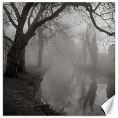 Foggy morning, Oxford 16  x 16  Unframed Canvas Print