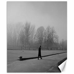 Foggy morning, Oxford 8  x 10  Unframed Canvas Print