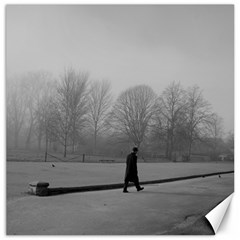 Foggy Morning, Oxford 12  X 12  Unframed Canvas Print