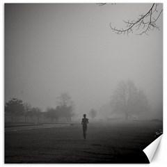 Foggy morning, Oxford 12  x 12  Unframed Canvas Print