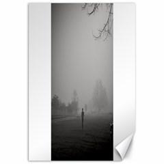 Foggy morning, Oxford 20  x 30  Unframed Canvas Print