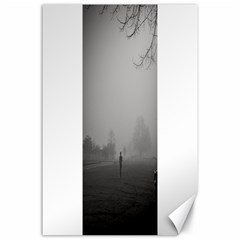 Foggy morning, Oxford 24  x 36  Unframed Canvas Print