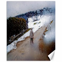 rainy day, Austria 11  x 14  Unframed Canvas Print