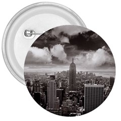 New York, Usa Large Button (round)