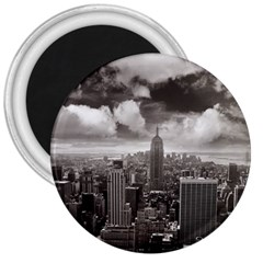 New York, USA Large Magnet (Round)