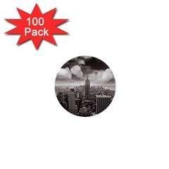 New York, Usa 100 Pack Mini Button (round)