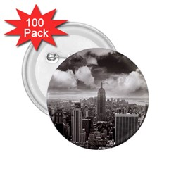 New York, USA 100 Pack Regular Button (Round)
