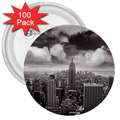 New York, USA 100 Pack Large Button (Round)