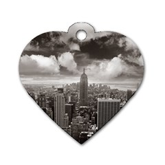 New York, Usa Twin Sided Dog Tag (heart)