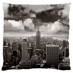New York, Usa Large Cushion Case (one Side)