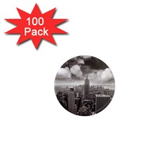 New York, USA 100 Pack Mini Magnet (Round)