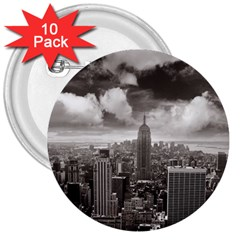 New York, USA 10 Pack Large Button (Round)