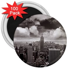 New York, USA 100 Pack Large Magnet (Round)