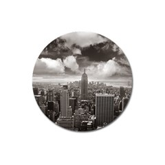 New York, USA Large Sticker Magnet (Round)