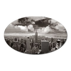 New York, Usa Large Sticker Magnet (oval)