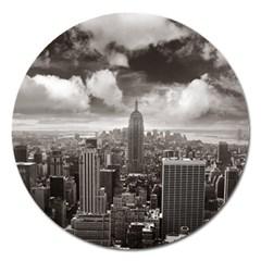 New York, Usa Extra Large Sticker Magnet (round)