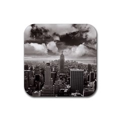 New York, USA 4 Pack Rubber Drinks Coaster (Square)