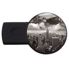 New York, USA 1Gb USB Flash Drive (Round)