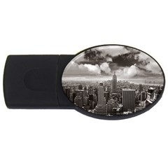 New York, Usa 4gb Usb Flash Drive (oval)