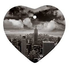 New York, Usa Heart Ornament (two Sides)