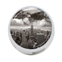 New York, Usa Twin Sided 4 Port Usb Hub (round)