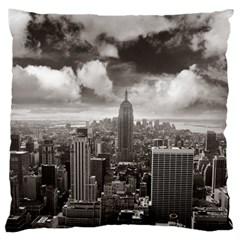 New York, Usa Large Cushion Case (one Side)