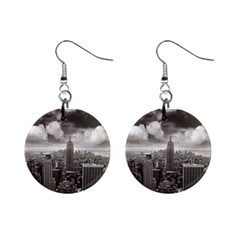 New York, USA Mini Button Earrings