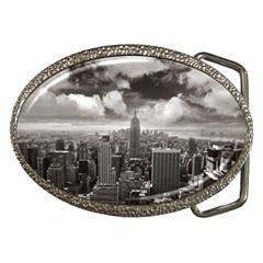 New York, USA Belt Buckle (Oval)