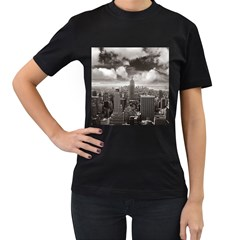New York, USA Twin-sided Black Womens'' T-shirt