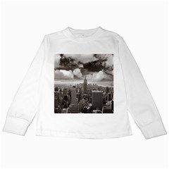 New York, Usa White Long Sleeve Kids'' T Shirt