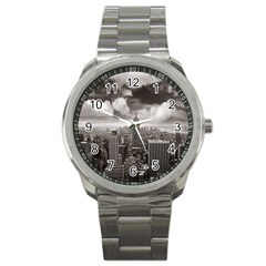 New York, Usa Stainless Steel Sports Watch (round)
