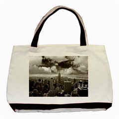 New York, Usa Twin Sided Black Tote Bag