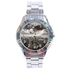 New York, Usa Stainless Steel Analogue Watch (round)