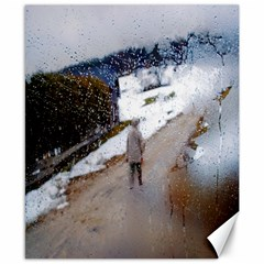 rainy day, Salzburg 8  x 10  Unframed Canvas Print