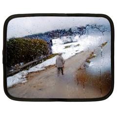 rainy day, Salzburg 13  Netbook Case