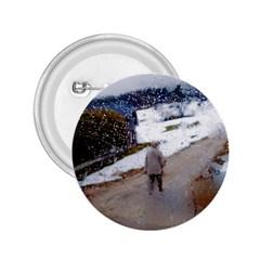 rainy day, Salzburg Regular Button (Round)