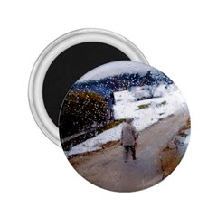 rainy day, Salzburg Regular Magnet (Round)
