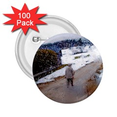 Rainy Day, Salzburg 100 Pack Regular Button (round)