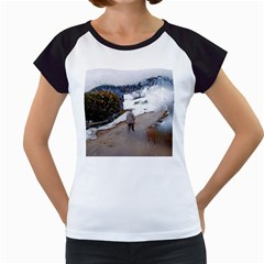 rainy day, Salzburg White Cap Sleeve Raglan Womens  T-shirt
