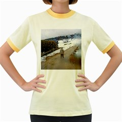 rainy day, Salzburg Colored Ringer Womens  T-shirt