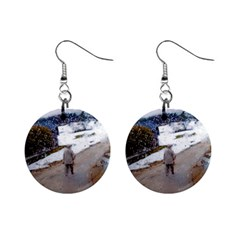rainy day, Salzburg Mini Button Earrings