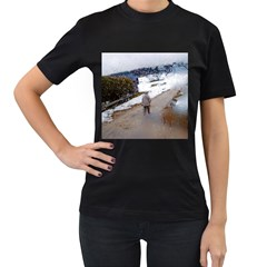 rainy day, Salzburg Twin-sided Black Womens'' T-shirt