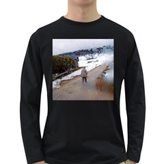 Rainy Day, Salzburg Dark Colored Long Sleeve Mens'' T Shirt