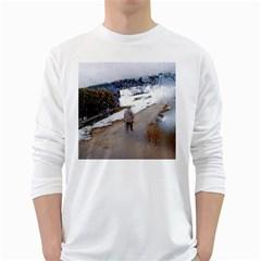 rainy day, Salzburg White Long Sleeve Man''s T-shirt