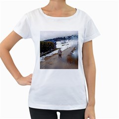 Rainy Day, Salzburg White Oversized Womens'' T Shirt