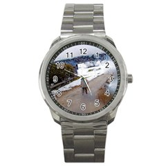 Rainy Day, Salzburg Stainless Steel Sports Watch (round)