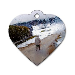 Rainy Day, Salzburg Single Sided Dog Tag (heart)