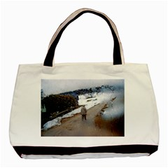 Rainy Day, Salzburg Twin Sided Black Tote Bag