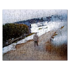 rainy day, Salzburg Jigsaw Puzzle (Rectangle)